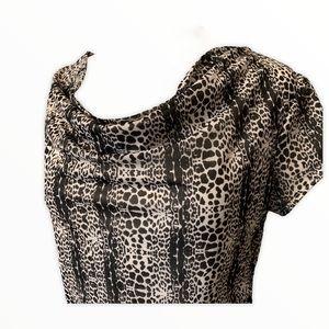 CATO Black & white scoopneck top